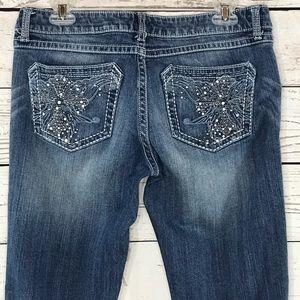 Rock 47 Wrangler Jeans Ultra Low Rise Embellished